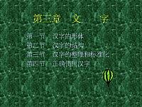 现代汉语文字