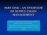 Logistics: An Introduction Supply Chain Management,